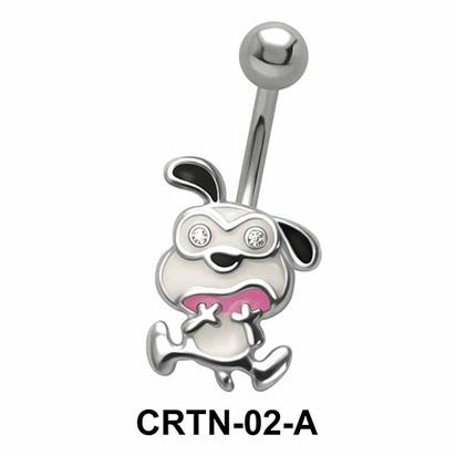 Funny Dog Belly Piercing CRTN-02
