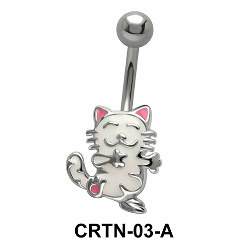 Kitty Shaped Belly Piercing CRTN-03