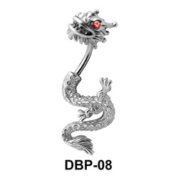 Stone Set Dragon Belly Piercing DBP-08
