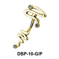 Stone Set Tail Belly Piercing DBP-10