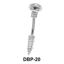 Pin Patterned Belly Rings DBP-20
