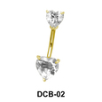 Heart Patterned Belly CZ Crystal DCB-02