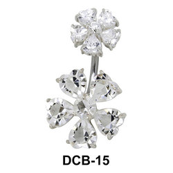 Flora Belly CZ Crystal DCB-15