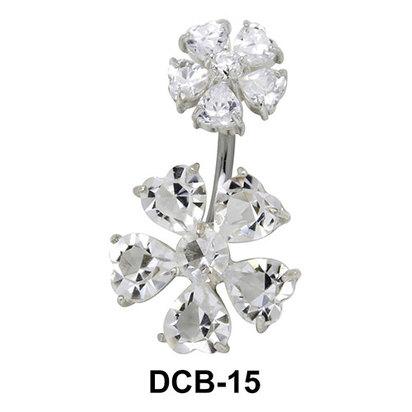 Flora Belly CZ Crystal DCB-15