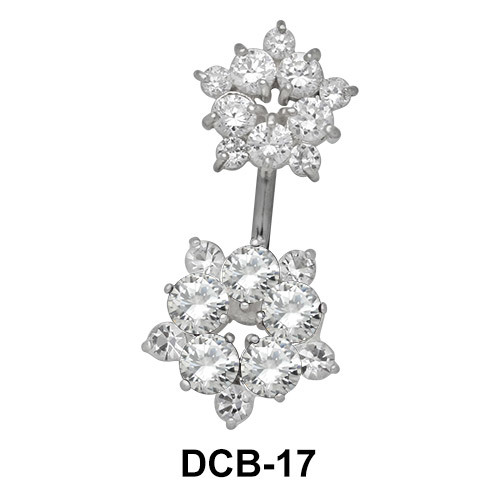 Floral Stone Set belly Piercing DCB-17