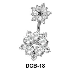 Flower Belly CZ Crystal DCB-18
