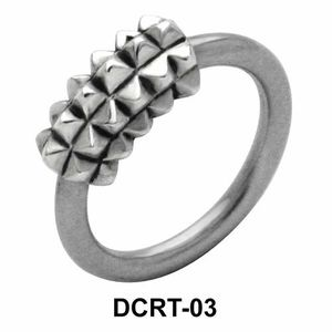 Multi Pyramidal Belly Piercing Closure Ring DCRT-03
