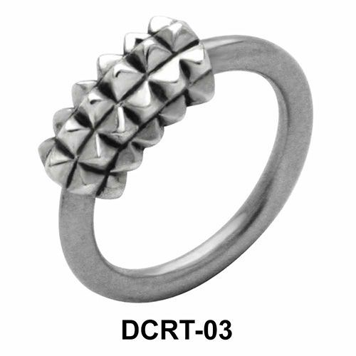 Multi Pyramidal Belly Piercing Closure Ring DCRT-03