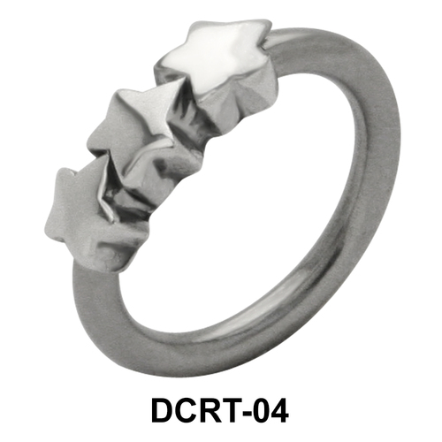 Three Stars Belly Piercing Closure Ring DCRT-04