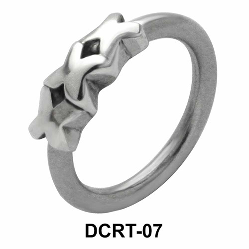 Triple X Belly Piercing Closure Ring DCRT-07