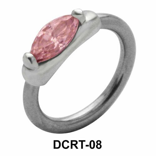 Marquise Cut Belly Piercing Closure Ring DCRT-08