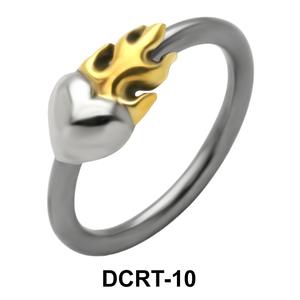 Heart on Fire Belly Piercing Closure Ring DCRT-10