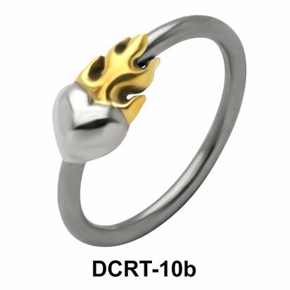 Fiery Heart Belly Piercing Closure Rings DCRT-10b