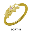 Triple X with Stone Belly Piercing Closure Ring DCRT-11
