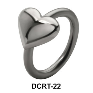Heart Belly Piercing Closure Ring DCRT-22
