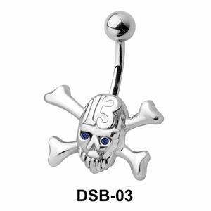 Danger Sign Belly Piercing DSB-03