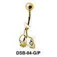 Double Skulls Belly Piercing DSB-04
