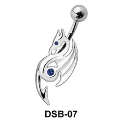 Eosinopteryx Shaped Belly Piercing DSB-07