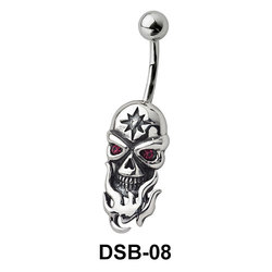 Skull n Fire Belly Piercing DSB-08