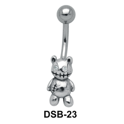 Teddy Bear Shaped Belly Piercing DSB-23