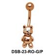 Teddy Bear Shaped Belly Piercing DSB-23