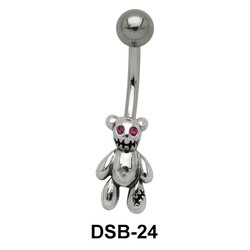 Teddy Bear Shaped Belly Piercing DSB-24