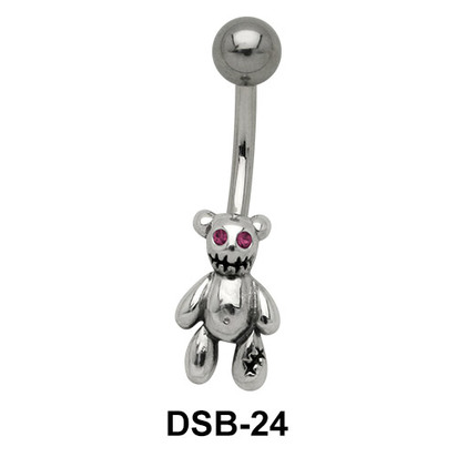 Teddy Bear Shaped Belly Piercing DSB-24