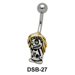 Zombie Shaped Belly Piercing DSB-27