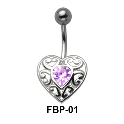 Filigree Heart Belly Piercing FBP-01
