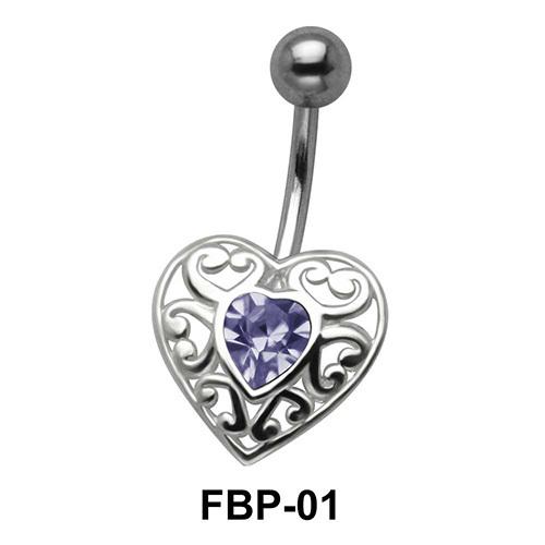 Filigree Heart Belly Piercing FBP-01