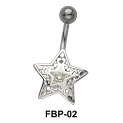 Filigree Star Belly Piercing FBP-02