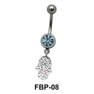 Hamsa Hand Hanging from Stone Filigree FBP-08