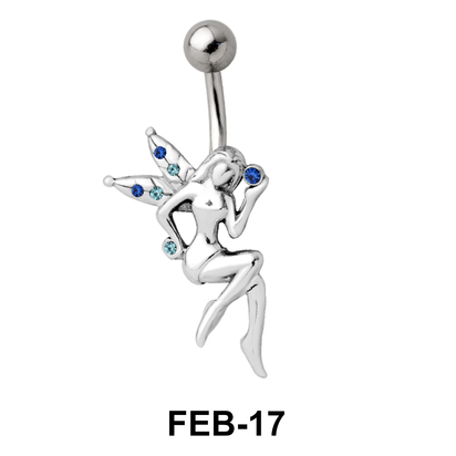 Stone Set Fairy Belly Piercing FEB-17