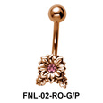 Stone Set Flower Belly Piercing FNL-02