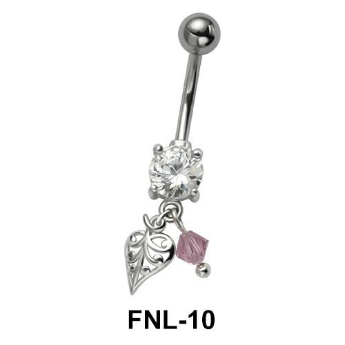 Stony Leaf Belly Piercing FNL-10