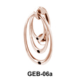 Concentric Circles Belly Piercing GEB-06a