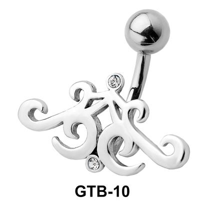 Stone Set Cute Design Belly Piercing GTB-10