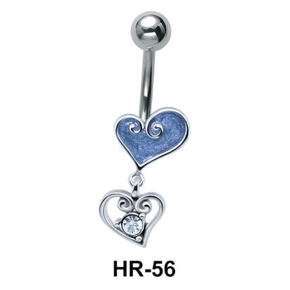 Dual Heart Shaped Belly Piercing HR-56
