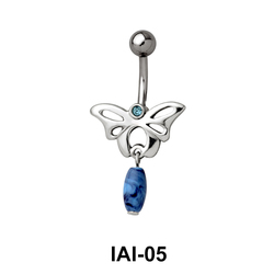 Butterfly Shaped Belly Piercing IAI-05