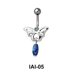 Butterfly Shaped Belly Piercing IAI-05