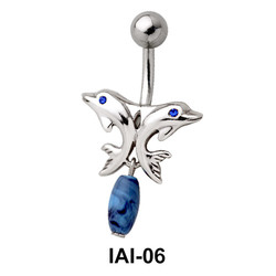Couple Dolphins Belly Piercing IAI-06