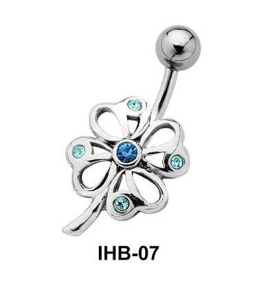 Pretty Flower Belly Piercing IHB-07