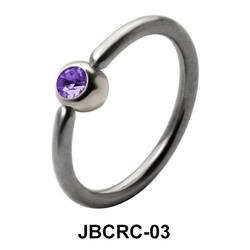 Purple Stone Belly Closure Rings JBCRC-03