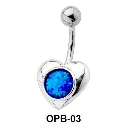 Heart Shaped Belly Piercing OPB-03