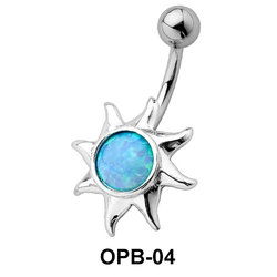 Stone Encrusted Sunrays Belly Piercing OPB-04