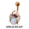 Stone Set Spider Belly Piercing OPB-23