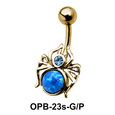 Stone Set Spider Belly Piercing OPB-23s