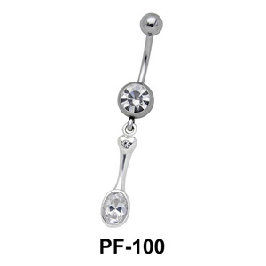Stones Set Belly Rings PF-100