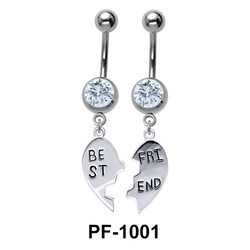 Broken Heart Best Friend Belly Piercing PF-1001