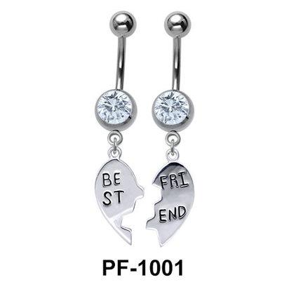 Broken Heart Best Friend Belly Piercing PF-1001